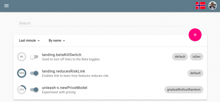 Feature toggle management UI